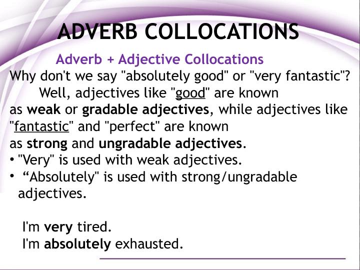 Adverb Collocations
