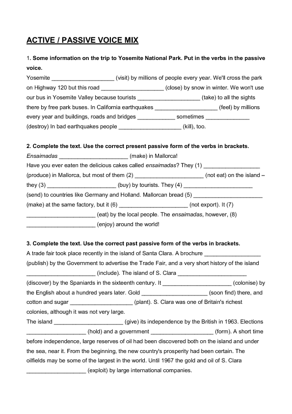 Active Vs Passive Voice Worksheet Free Worksheets Library – Active Passive Voice Worksheet