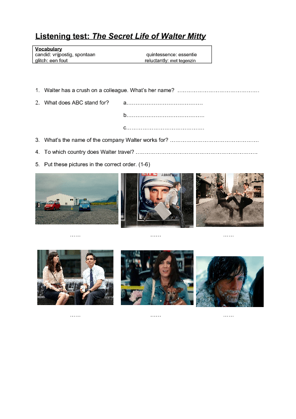 Theme And Narrative Elements: The Secret Life Of Walter Mitty.