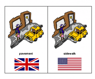 American English vs. British English Flash Cards