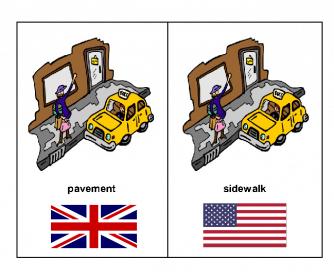 American English vs. British English Flash Cards