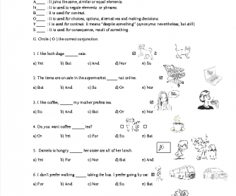 Printables Fanboys Grammar Worksheet fanboys coordinating conjunctions exercise