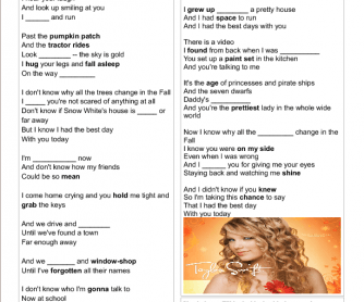 Song Worksheet: The Best Day by Taylor Swift (Mother's Day)