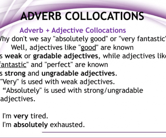 Adverb Collocations