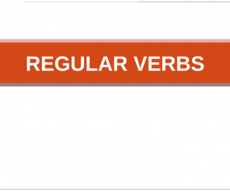 Regular Verbs Flashcards