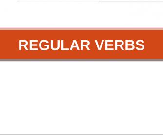 Regular Verbs Flashcards
