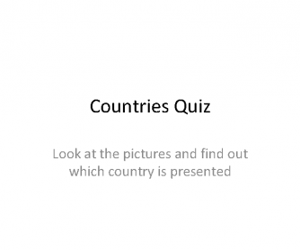 Countries Quiz