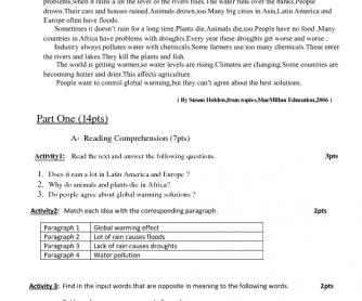 Environment - Reading Comprehension