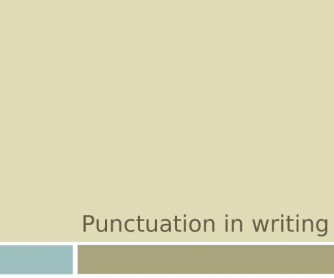 Writing - Punctuation and Sentence Completion