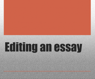Editing an Essay