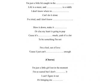 Song Worksheet: The Show by Lenka