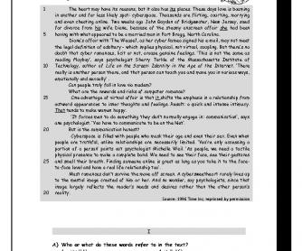 Cyber Love Reading Test