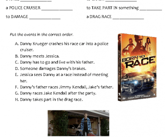 Movie Worksheet: Born to Race (Elementary)