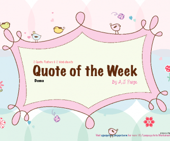 Quote of the Week + 2 Activity Sheets