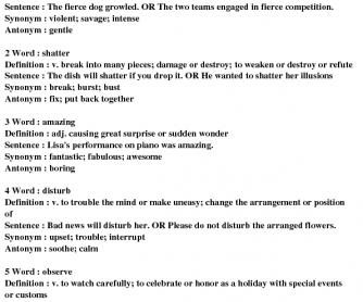 Vocabulary Grade4/5 #8A