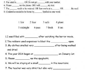 Vocabulary Grade 2/3 #5C