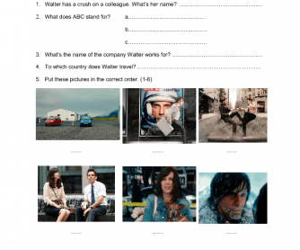 Movie Worksheet: The Secret Life of Walter Mitty