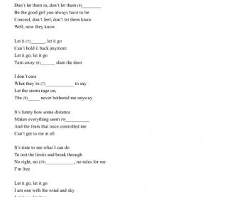 Song Worksheet:Let it Go and Summer (Frozen)