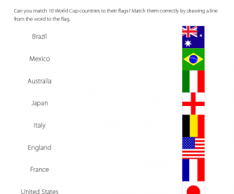 Word and Picture Matching - World Cup