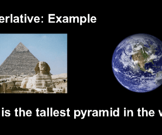 Superlatives and Comparatives - Egyptian-themed