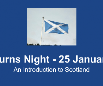 Burns Night - an Introduction to Scotland