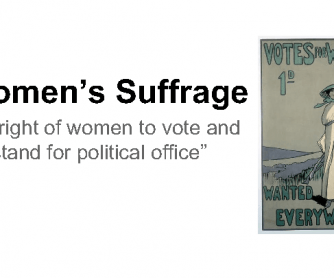 Women's Suffrage in the United Kingdom