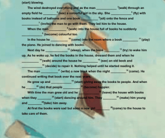 Movie Worksheet:The Fantastic Flying Books