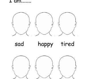 How Are You? Emotions - Blank Face Templates