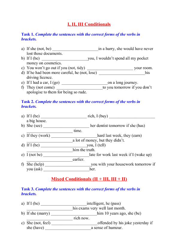 119 FREE Third Conditional Worksheets