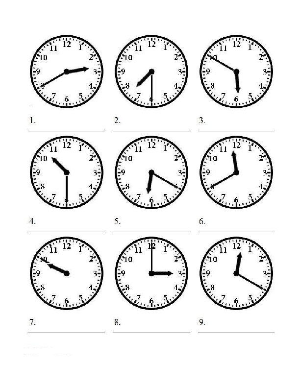 the Time Worksheet – Worksheets on Telling Time