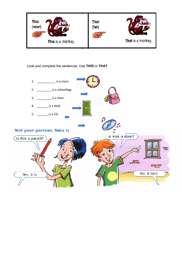 demonstrative pronouns exercises pdf with answers