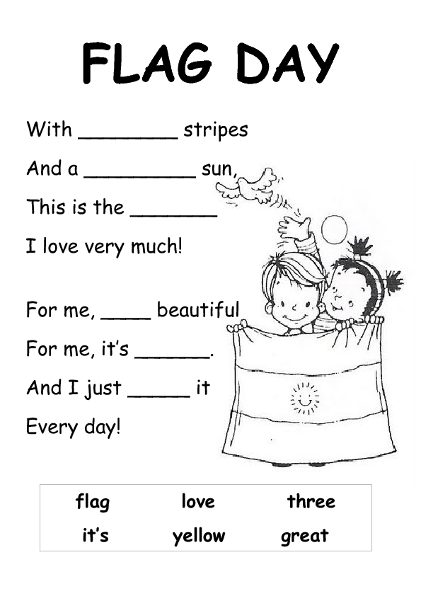 photo relating to Flag Day Printable Activities identify Argentinian Flag Working day Poem