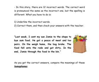Pronunciation Activity - Homophones
