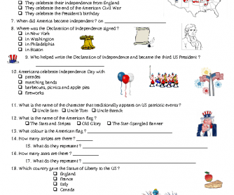 photo regarding 4th of July Trivia Printable referred to as Liberty Working day Quiz