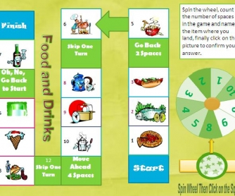 Food and Drinks Interactive Boardgame