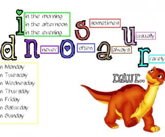 Present Simple- Dinosaur