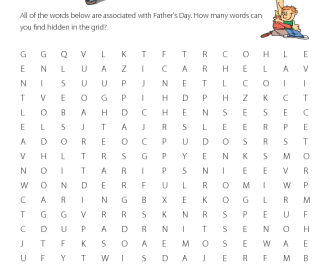 Father's Day - Word Search