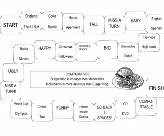 Comparatives Board Game