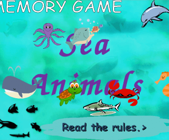 Sea Animals Memory Game