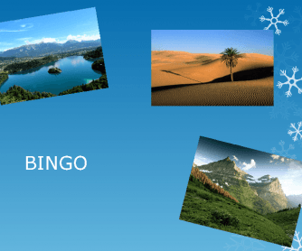 Pictured Landscape Bingo