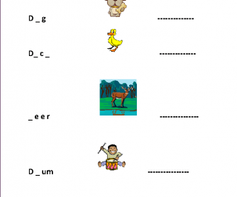 Practising and Learning Spelling with Pictures