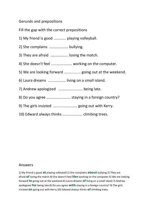 133 FREE Infinitive And Gerund Worksheets