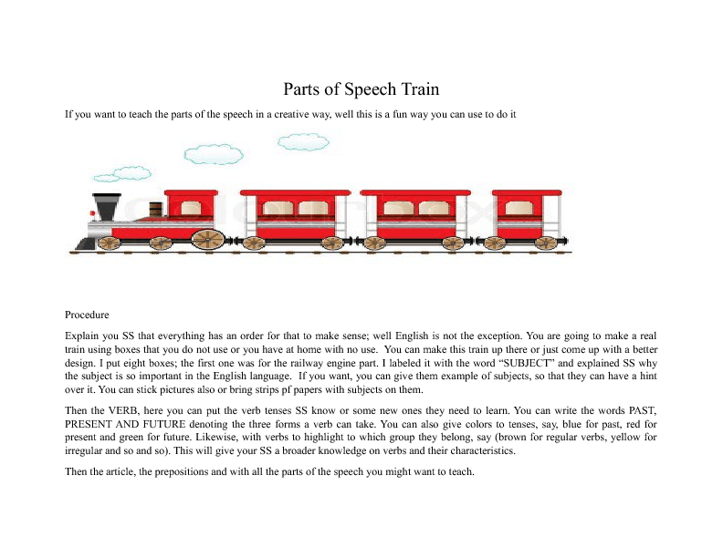 Parts Of The Speech Train