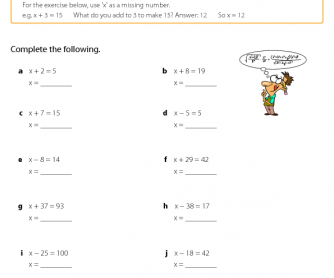Introducing Algebra