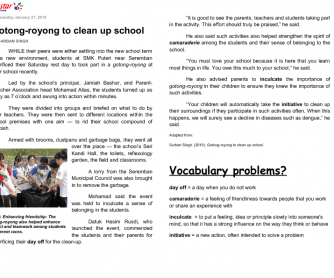 'Gotong-Royong' to Clean Up School