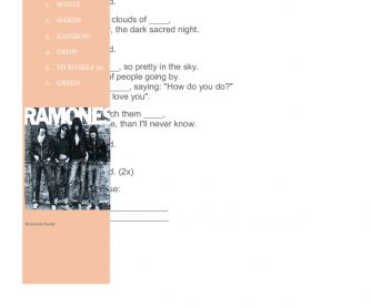 Song Worksheet: What a Wonderful World by Ramones