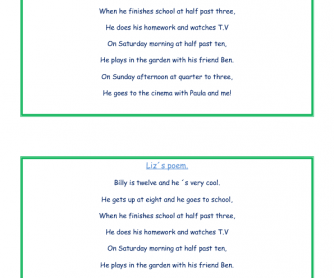 Liz´s Poem for Children (Routines)