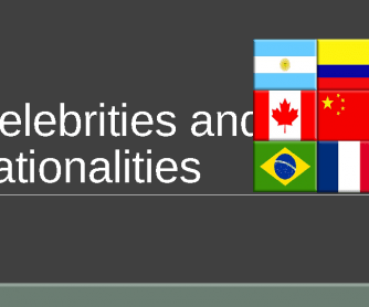 Celebrities and Nationalities