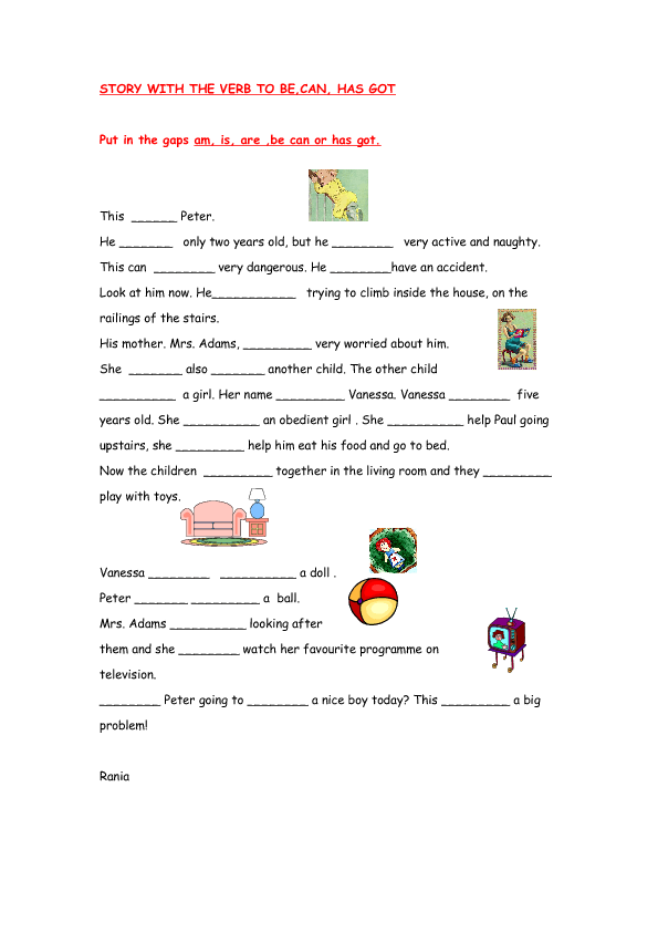 Gap-fill Story with Auxiliary Verbs