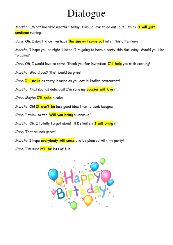 26 free plans worksheets plans for b day party future simple stopboris Image collections